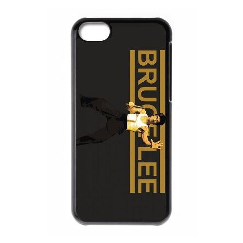 M2I27 Bruce Lee N7W6DN cas d'coque iPhone de téléphone cellulaire 5c couvercle coque noire WS4XWM2XC