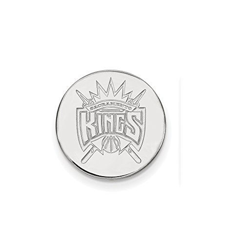 NBA Sacramento Kings Lapel Pin in 14K White Gold by LogoArt