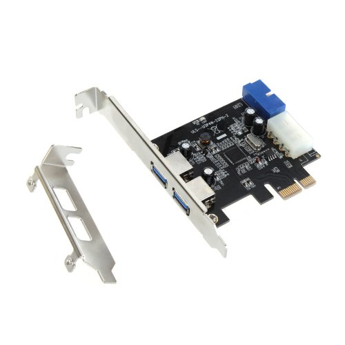 Kingzer PCI Express PCI-E Card With 1X 19-pin Internal & 4-pin IDE Connector Low Profile from KINGZER