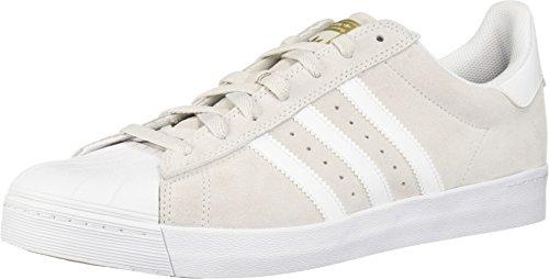 (adidas Skateboarding Unisex Superstar Vulc ADV Grey One/Footwear White/Gold Metallic 11.5 Women / 10.5 Men M US)