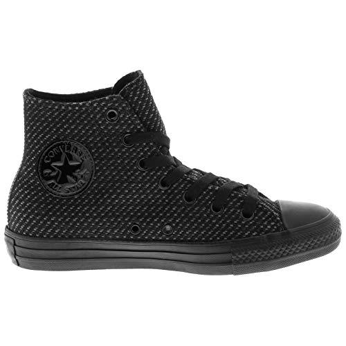 Converse Women's Chuck Taylor All Star High Top Sneaker, Black, 8 M US -