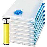 Vacuum Space Saver Reusable Sealer Storage bags 60x80cm, With Suction Pump, 7 PCS
