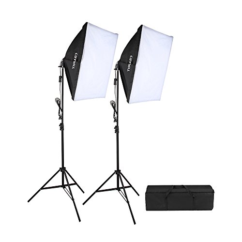 CRAPHY 700W 5500K Photography Studio Soft Box Lighting Kit Continuous Light Equipment for Portrait Video Shooting (20×28″ Softbox + 80″ Tall Light Stand + Carrying Bag)