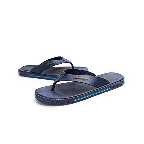 Mens Summer Comfort Sport Flip Flops Beach Sandal Casual Slipper Flat Shoes Blue jAsFDx