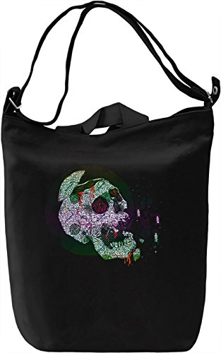 90's Skull Borsa Giornaliera Canvas Canvas Day Bag| 100% Premium Cotton Canvas| DTG Printing|