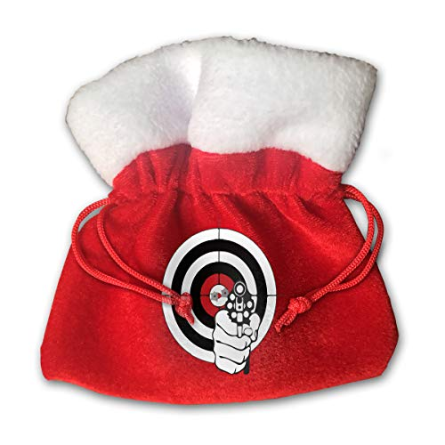 CYINO Personalized Santa Sack,Target Shooting Sport Sketch Portable