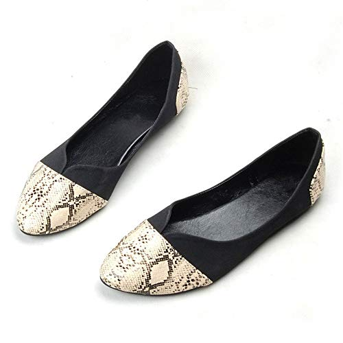 office FLYRCX fashion shoes ladies pregnant flat women Casual Black work printed comfortable point shoes shoes 8q8rTx