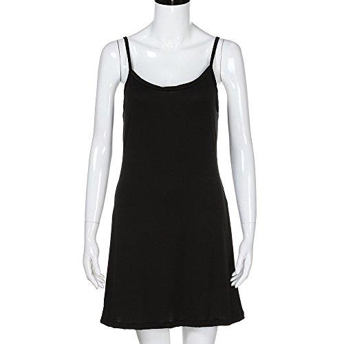 lgante dessus du Robe Femmes 2XL Dress Sans S Dames Vtements Lache Au genou Black Inner simplicit Manches tour Solide LILICAT Mode Bottom Party 6xaqwEO0