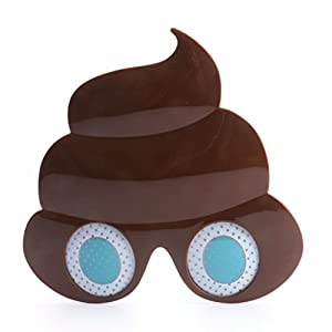 Novelty Glittered Christmas Decoration Fanci-Frames Party Accessory Poop Eyeglasses