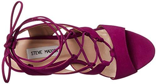 Steve Madden sandalias de las mujeres Sandalia Purple Nubuck