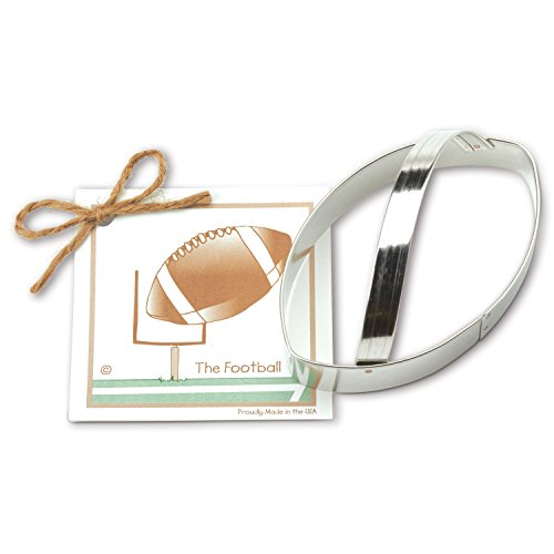 Football Cookie and Fondant Cutter - Ann Clark - 5 Inches - US Tin Plated Steel
