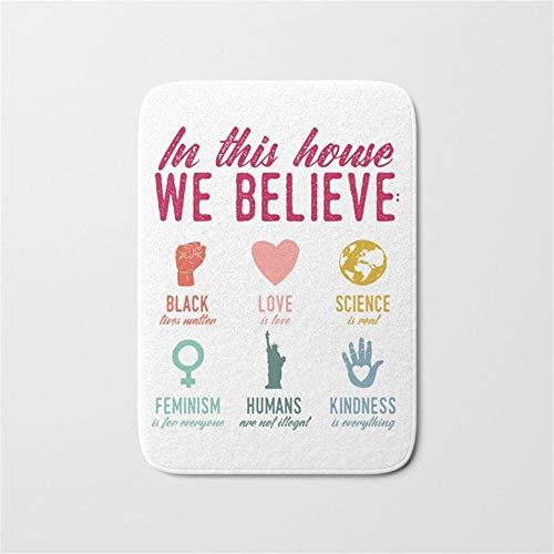 in This House We Believe Doormat Bath Door Mat (16