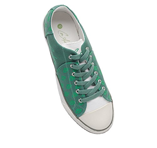 Cori Anthony Elite Classics Canvas Para Hombre Custom Low Top Casual Lace Up Sneaker Verde