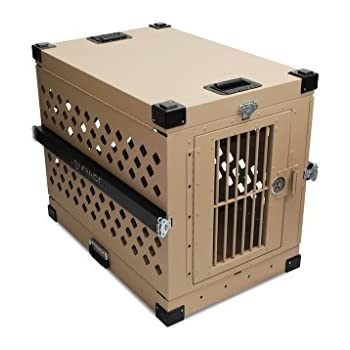 Impact Dog Crate (Collapsible), 450 Model, X-Large, Tan in Color