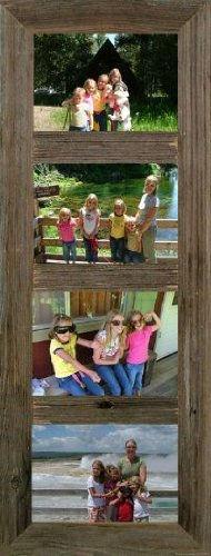 Vertical Barnwood Panel Frame for (4) 5x7 Pictures