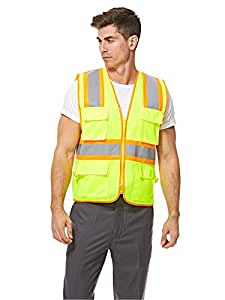 Empiral Twinkle Safety Vest Hi-Vis Executive with Zipper - Yellow-Green Sizes S 5/60*68cm