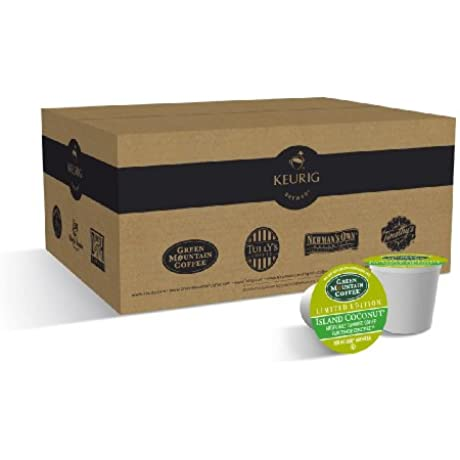 Green Mountain Coffee Island Coconut K Cup Portion Pack For Keurig Brewers 50 Count
