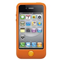 SwitchEasy SW-COL4-O Colors Silicone Case for iPhone 4 and 4S-Saffron