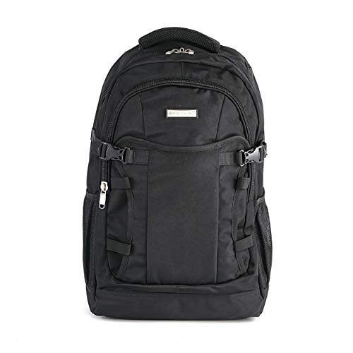 Extra Large Backpack for Men and Women – Water Resistant Laptop Bag with Padded Sleeve for 17-inch Laptops, and Earphone Pass-Thru - Double-Stitched Heavy-Duty Rucksack for School or Work Commuter