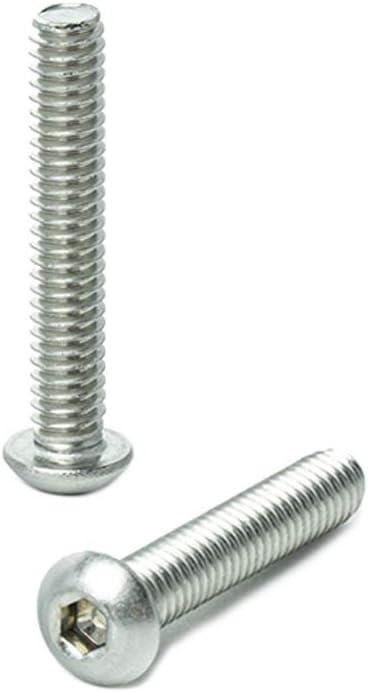 Stainless Steel 18-8 1-1//2 Button Head Socket Screws Quantity 50 1 1-1//4 1//4-20 x 1//2 3//4 Allen Hex Drive