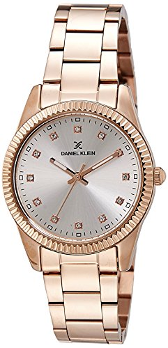 Daniel Klein Analog Silver Dial Women's Watch-DK11185-2
