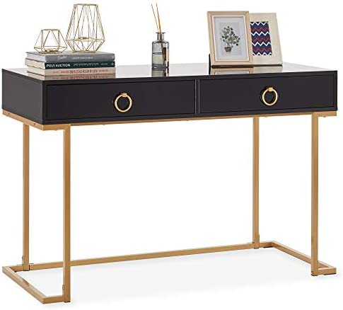 Cheap BELLEZE Home Office Two-Drawers Computer Desk Vanity Table modern office desk for sale
