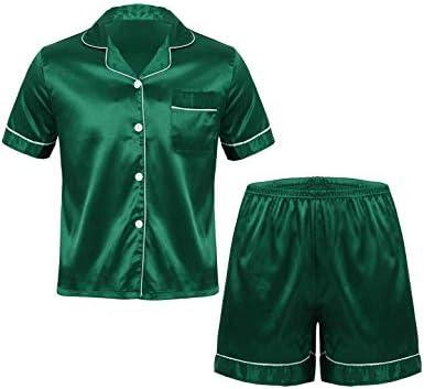 メンズ パジャマ 男性 パジャマ 寝巻き ルームウェア 半袖 ナイトウェア サテン地 部屋着 寝間着 ゆったり 快適 大人用 春 夏 2点セット 軽量