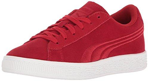 Puma Suede Classsic Badge Ps - Zapatillas de Piel para niño morado cabernet Barbados Cherry-barbados Cherry