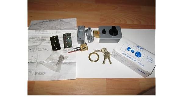 Basi Buzón cerrojo Candado, cierre adicional Casta – Plata Gris con cilindro, incluye 3 llaves): Amazon.es: Bricolaje y herramientas