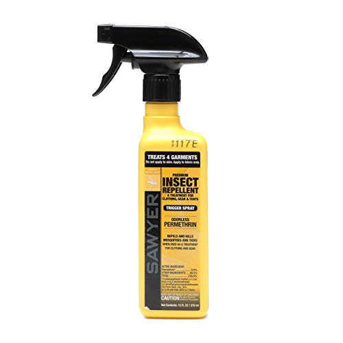 Sawyer Products SP649 Premium Permethrin Clothing Insect Repellent Trigger Spray, 12-Ounce (Bug Repellent Clothing)