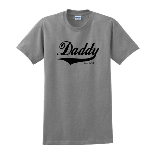 Father's Day Gift for Dad and Grandpa Daddy Since 2014 T-Shirt 3XL Sport - Father Gifts Day 2014