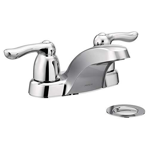 Moen 4925 Chateau Two-Handle Low Arc Bathroom Faucet, Chrome