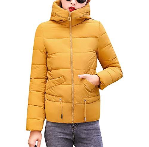 Jacket XINHEO Warm Yellow Hooded Parka with Women Coat Down Oversized Down Hood Fqxr0wFf