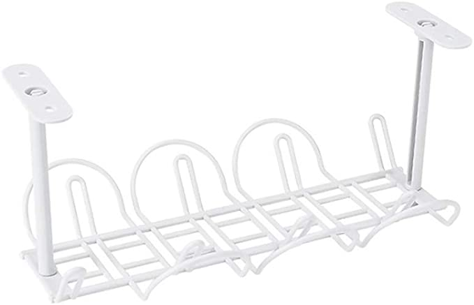 Self Adhesive Socket Storage With Hanging Basket Tidy Cable Rack Organizer ABS