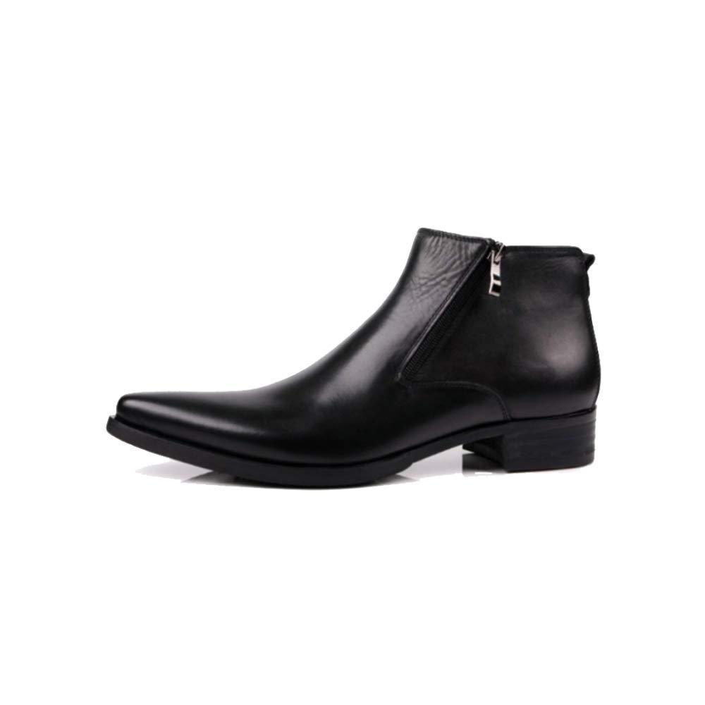 ZPEDY High-Top-Schuhe Spitzen Stil Kurze Stiefel Doppelreißverschluss Stiefel Arbeitsschuhe Europäische Version