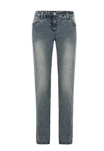 Million X Femme Jeans Victoria Rivets Skinny Gris Acier