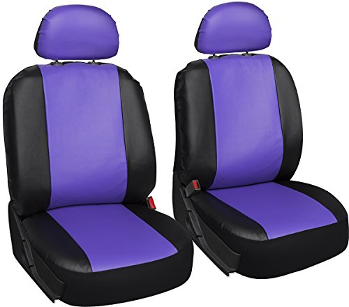 grey and purple car seat covers - 7