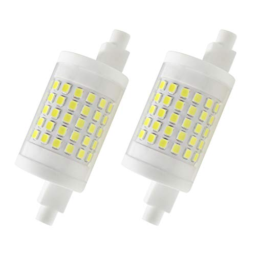 Attaljus R7s LED Bulb 78mm, R7s Double Ended Floodlight 120V J Type LED Bulbs, 10W (80W Halogen Bulb Replacement), Dimmable Daylight 6000K J78 Flood Lights (Pack of 2)