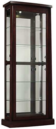Tresanti Big Wall Boomerang Display Cabinet, Embossed Midnight Cherry by Tresanti
