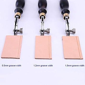 Lankater Leder N/ähen Divider Creaser Verstellbare Handgemachte rotierenden Metall Scratch-Fertigkeit-Werkzeug
