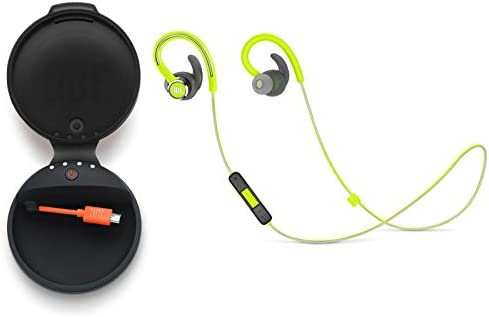 505a1b5f633 JBL Reflect Contour 2 in-Ear Wireless Bluetooth Sport Headphones Bundle  with JBL Charge Case (Green)