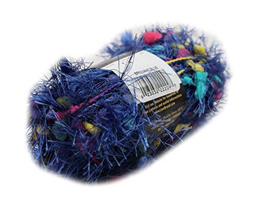 Brilliant Blue Lion Brand Fancy Fur Eyelash Yarn - Brilliant Blue - Fur Fancy Yarn