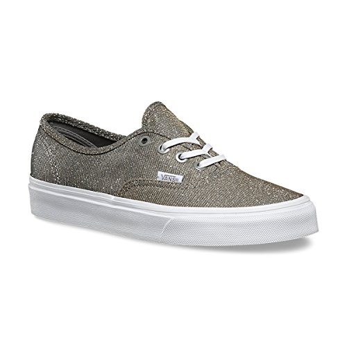 Vans Authentic Glitter Textile Skatebording Shoes Gray/True White Size 4.5 Casual