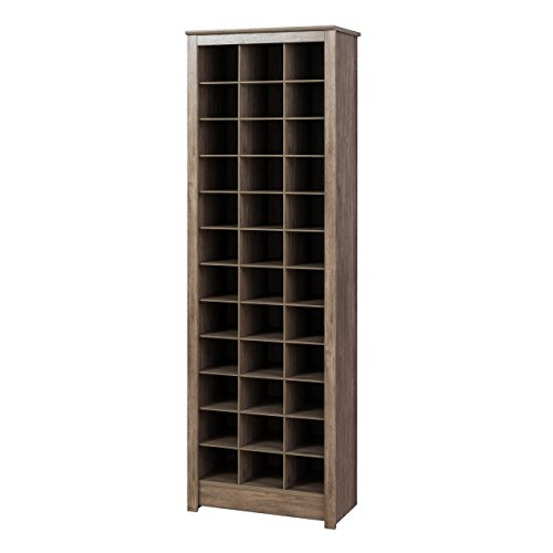 Prepac Cabinet, 36 pair Shoe Storage Rack, Drifted Gray