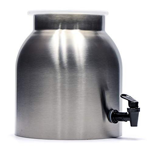 Northern Brewer - Stainless Steel Carafe for Continuous Brew Kombucha with Plastic Spigot