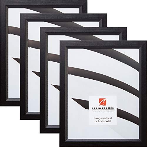 Craig Frames 7171610BK 24 x 36 Inch Picture Frame, Black, Set of 4 Ebony Wood Poster Frame