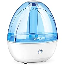 Cool Mist Humidifier - Super Quiet Humidifier for Baby Office, All Night Moisture Ultrasonic Air Humidifier for Bedroom, Powerful Mist, NO Wet Floor, Easy Use & Clean, Auto Shutoff Portable Humidifier