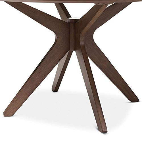 Hawthorne Collections Round Dining Table in Walnut Brown by Hawthorne Collections (Image #4)