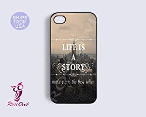 Inspirational Quote Life is a Story Iphone 4 Case, Iphone 4s Covers - Coolest...