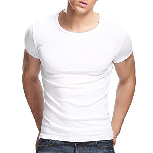 Xudian Short Sleeves Men T-shirt Crew-neck(White), US Size: X-Large, Asian Size: XXX-Large - Game White Short Sleeve T-shirt